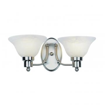 Hampton Bay Nickel Contemporary 2 Light Sconce