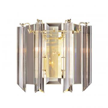 Hampton Bay Polished Brass with Clear Acrylic Sconce