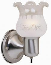 Hampton Bay 1-Light Wall Sconce with On/Off Switch, Brushed Nickel Finish
