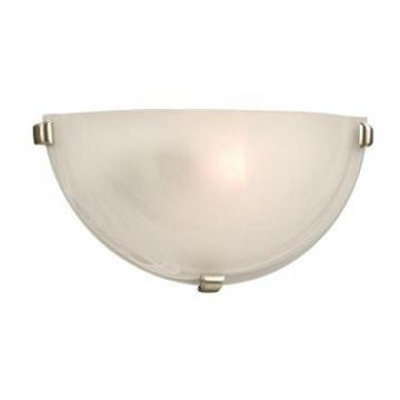 Hampton Bay Marbled Glass Wall Sconce with 3 Pewter Clips