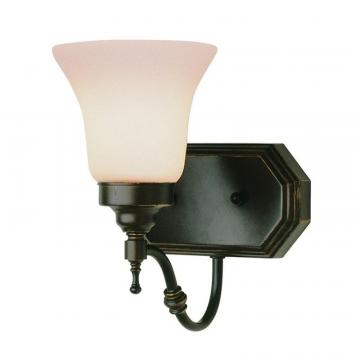 Hampton Bay Bronze Beveled Wall Sconce