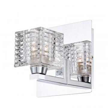 Hampton Bay Olivet Collection 1 Light Chrome Wall Sconce