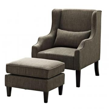 Simpli Home Ashbury Wingback Club Chair & Ottoman