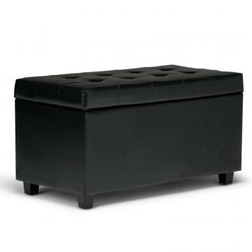 Simpli Home Cosmopolitan Medium Rectangular Storage Ottoman Bench