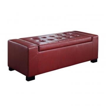 Simpli Home Laredo Large Rectangular Storage Ottoman Bench