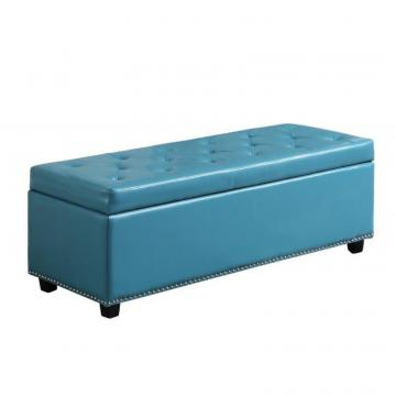 Simpli Home Hamilton Large Rectangular Storage Ottoman Bench