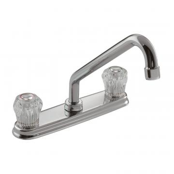 Moen II Chrome Two-Handle Low Arc Kitchen Faucet