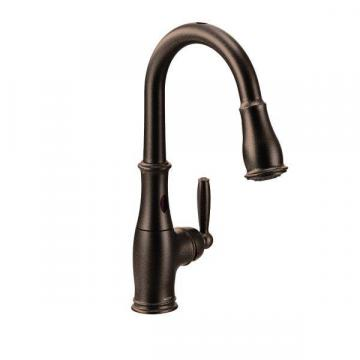 Moen Brantford With Motionsense One-Handle Pulldown Kitchen Faucet In Oil Rubbed Bronze