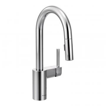 Moen Align One-Handle High Arc Pulldown Bar Faucet In Chrome
