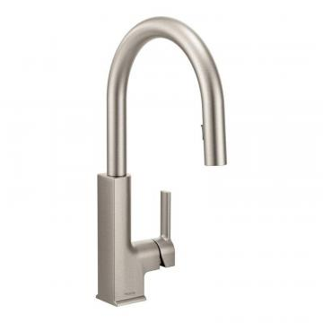 Moen STO One-Handle High Arc Pulldown Kitchen Faucet In Spot Resist Stainless