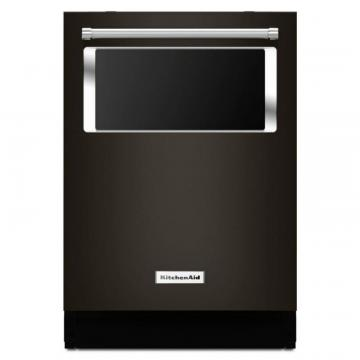 KitchenAid Black Stainless, 44 Dba Dishwasher With Window And Lighted Interior