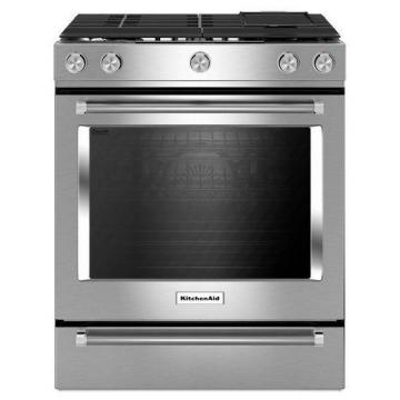 KitchenAid 7.1 cu. ft. Dual Fuel Slide-In Convection Range in Stainless Steel