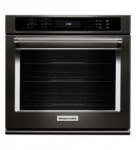 "KitchenAid Black Stainless, 27"" Single Wall Oven With Even-Heat True Convection"