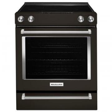 "KitchenAid 30"" 5-Element Electric Slide-In Convection Range"