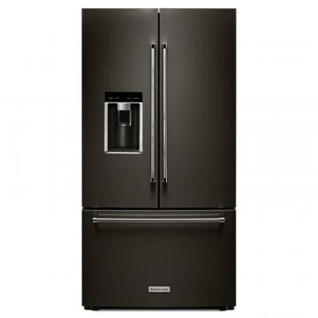 "KitchenAid Black Stainless, 23.8 Cu. Feet 36"" Counter-Depth French Door Refrigerator"