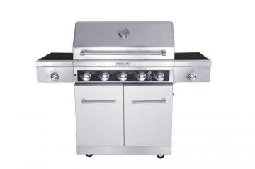 KitchenAid 5-Burner Gas BBQ with Side Sear Burner and Side Burner