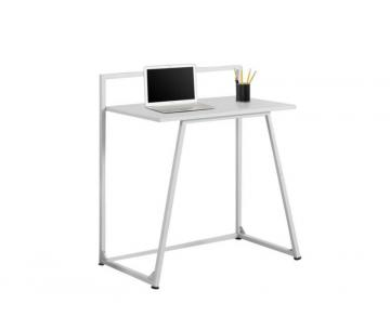 "Monarch Computer Desk - 32"" L / Juvenile White / White Metal"