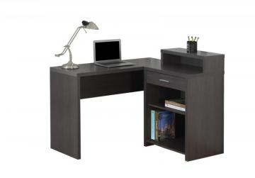 Monarch Computer Desk - Grey Corner With Storage