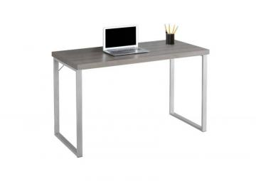 "Monarch Computer Desk - 48"" L / Dark Taupe / Silver Metal"