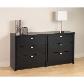 Prepac Black Designer Series 9  6 Drawer Dresser