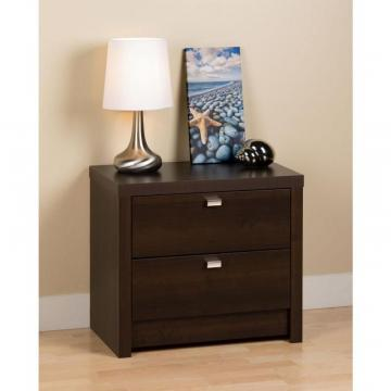Prepac Espresso Series 9 Designer - 2 Drawer Nightstand