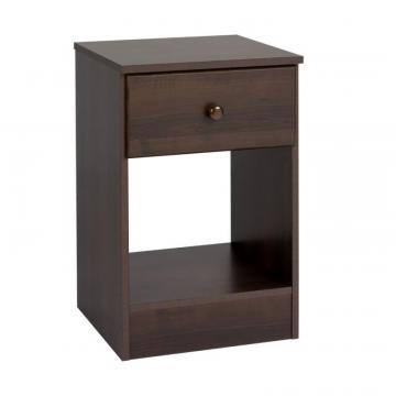 Prepac Astrid Tall 1-Drawer Night Stand, Espresso