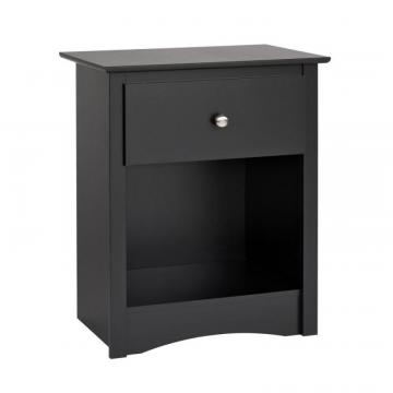 Prepac Sonoma 1-drawer Tall Nightstand, Black