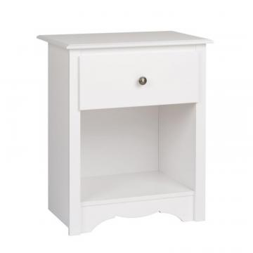 Prepac Monterey 1-drawer Tall Nightstand, White