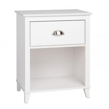 Prepac Yaletown 1-Drawer Tall Nightstand, White