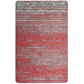 "Lanart Red City Stripe Mat - 2' 4"" x 3' 9"""