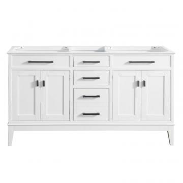 "Avanity Madison 60""  Double Vanity Cabinet in White"