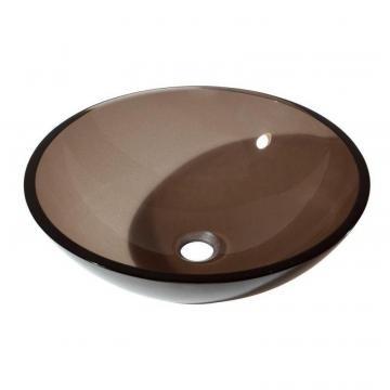 Avanity Tempered Glass Vessel in Brown