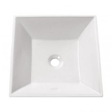 "Avanity 16 1/2"" Square Vitreous China Vessel Sink in White"