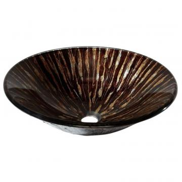 Avanity Tempered Glass Vessel in Golden Ebony