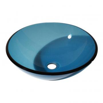 Avanity Tempered Glass Vessel in Blue