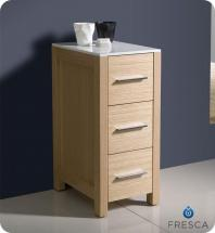 "Fresca Torino 12"" Light Oak Bathroom Linen Side Cabinet"