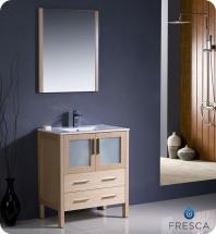 "Fresca Torino 30"" W Vanity in Light Oak Finish with Undermount Sink"