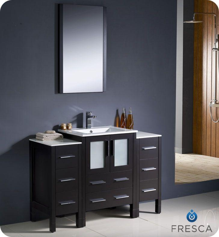 "Fresca Torino 48"" W Vanity in Espresso Finish with Undermount Sink"