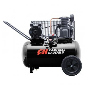 Campbell Hausfeld Air Compressor, 20 Gallon Portable 10.2CFM 3.7HP 208-230V 1PH (VT6182)