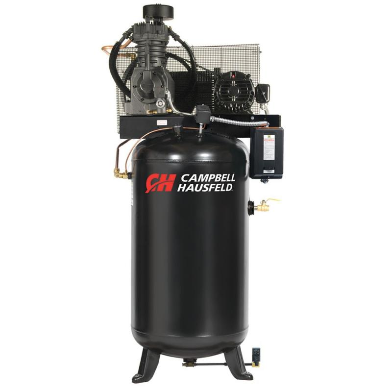 Campbell Hausfeld Air Compressor, 80 Gallon Fully Packaged  17.2CFM 5HP 208-230/460V 3PH (CE7051FP)