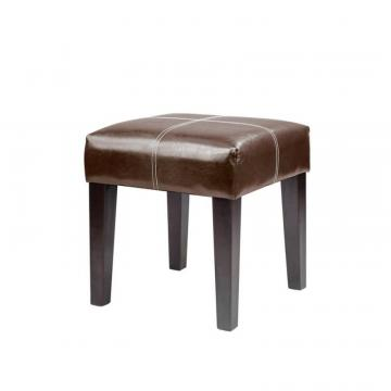 Corliving Antonio 16 Inch Bench In Dark Brown Bonded Leather
