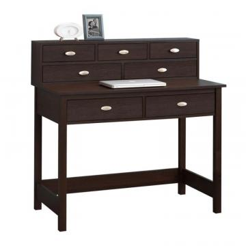 Corliving Folio Modern Wenge Seven Drawer Desk