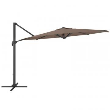 Corliving Deluxe Offset Patio Umbrella in Sandy Brown