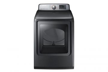 Samsung 7.5 cu. ft. Front-Load Electric Dryer with Steam Dry in Black Stainless Steel