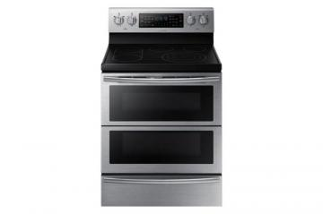 Samsung 30-inch Free-Standing Dual Door Electric Convection Range in Stainless Steel