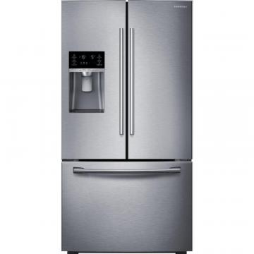 Samsung 23 cu. ft. 3-Door French Door Counter-Depth Refrigerator in Stainless Steel