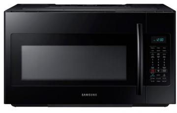 Samsung 1.8 cu. ft. Over-the-Range Microwave Hood Combo with Ceramic Cavity in Black