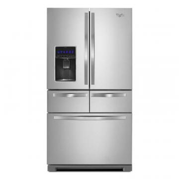 Whirlpool 26 cu. ft. Double Drawer French Door Refrigerator with Dual Cooling System