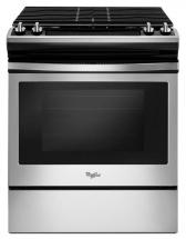 Whirlpool 5.0 Cu. Feet, Front Control Self-Cleaning Slide-In Gas Range