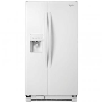 Whirlpool 33-inch Wide Side-by-Side Refrigerator with Water Dispenser - 21 cu. Feet